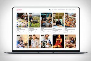 Airbnb online élményprogram